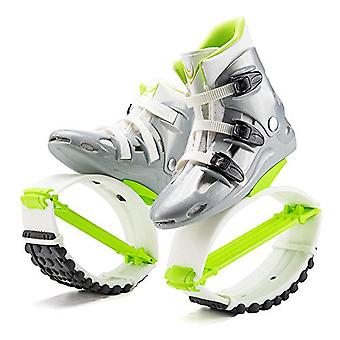 The Third Generation Enhanced Version Of The Skid Shoes Elastic Shoes Easy Jumping Space Jumping Stilts Jumping Shoes L-36/38 Green And White Yards 4t