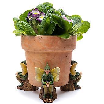 Potty fötter blomma älvor Elm Tree Fairy Plant Pot Fötter Flerfärgade Set av 3