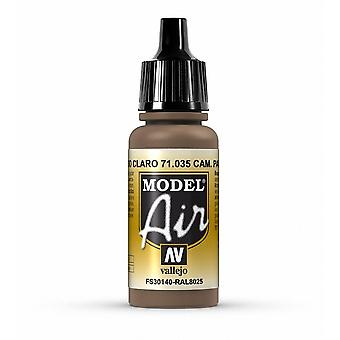 Vallejo Model Air 35 Camouflage Pale Brown - 17ml Acrylic Airbrush Paint