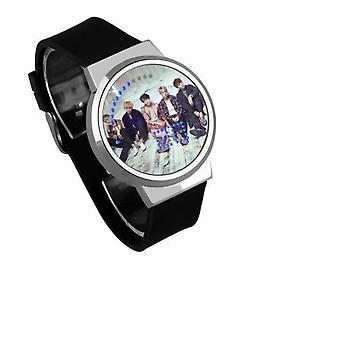 Waterproof Luminous Led Digital Touch Watch - Bts In Sitting Position
