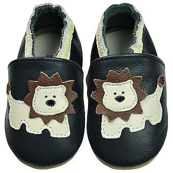 طفل ناعم البقرة جلد حديثي الولادة الأحذية