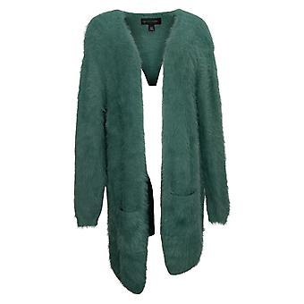 Colleen Lopez Women's Sweater Reg Nylon Cardigan Green 671569