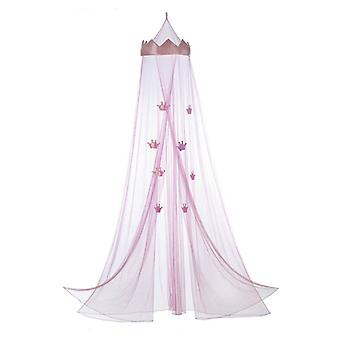 Accent Plus Pink Princess Crown Bed Canopy, Pack of 1