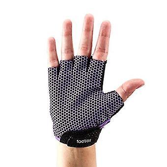 ToeSox Grip Handsker Half Finger Design Yoga Pilates & Amp; Purple