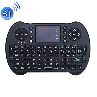 Aionyaaa Suitable For Laptops, Black Desks, Tvs, Stb S501 2.4ghz Mini Wireless Bluetooth Qwerty Keyboard With Touchpad And Multimedia Control