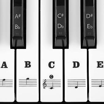 ピアノキーボードステッカー