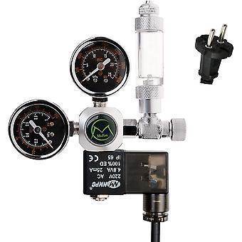 Aquarium Co2 Regulator, Aquarium Pressure Reducer, Stable Output Pressure Of 4-6 Bar, Including Bubble Counter And Check Valve, W21.8 Interface