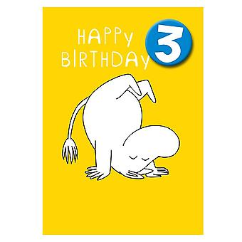 Hype Moomin Age 3 Badge Greeting Card