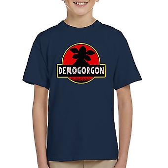 Demogorgon Jurassic Park fremmed ting Kids t-skjorte