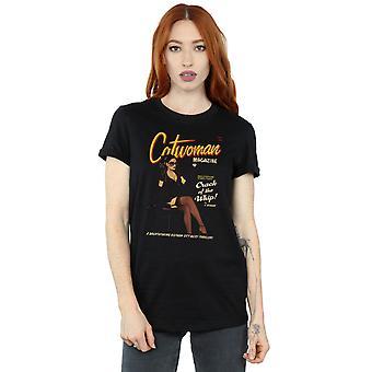 DC 漫画 妇女_apos;s 猫女弹壳封面男友适合 T 恤