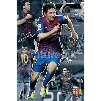 FC Barcelone Lionel Messi Collage 2011-2012 affiche Poster Print