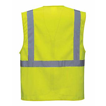 Portwest - Athens MeshAir HI-i-Vis Safety Workwear Executive Vest Yellow 3XL