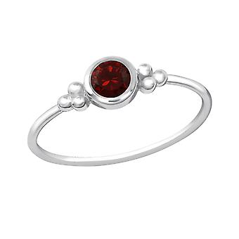 Round - 925 Sterling Silver Jewelled Rings - W20442X
