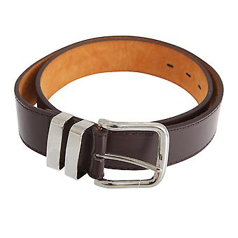 Forests Belts Mens 1.5 Inch Bonded Leather Trouser Belt With Double Loop Chrome Buckle