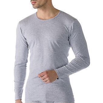 Mey 49104-620 Mäns Casual bomull grå färg Långärmad topp