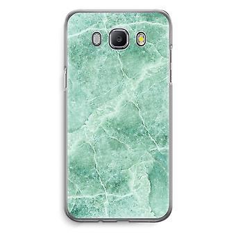 Samsung Galaxy J5 (2016) Transparent Case (Soft) - Green marble