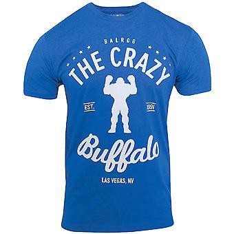 Capcom Crazy Buffalo Premium figurbetontes T-Shirt-königsblau Heather