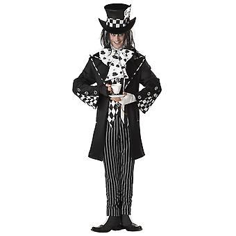 Dark Mad Hatter Wonka Alice In Wonderland Men Costume