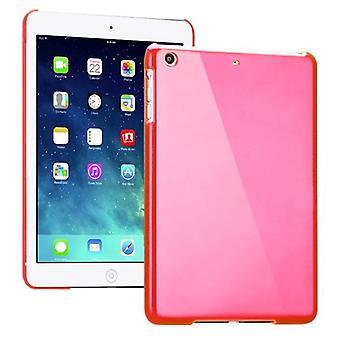 Σκληρό γυαλιστερό ροζ για την Apple iPad Air + αλουμινόχαρτο