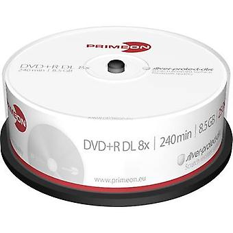 Primeon 2761251 Blank DVD+R DL 8.5 GB 25 pc(s) Spindle Silver matte surface
