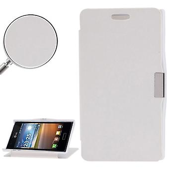 Cell phone cover case voor LG Optimus L5 / E610 wit geborsteld