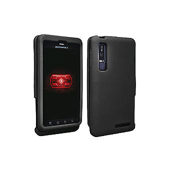 OEM Verizon Snap-On Silicone Cover Case pour Motorola Droid 3 (Black) (Bulk Packaging)