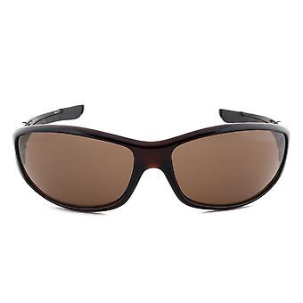 Timberland TB7093 50E sport wrap napszemüveg | Sötétbarna keret | Barna lencse