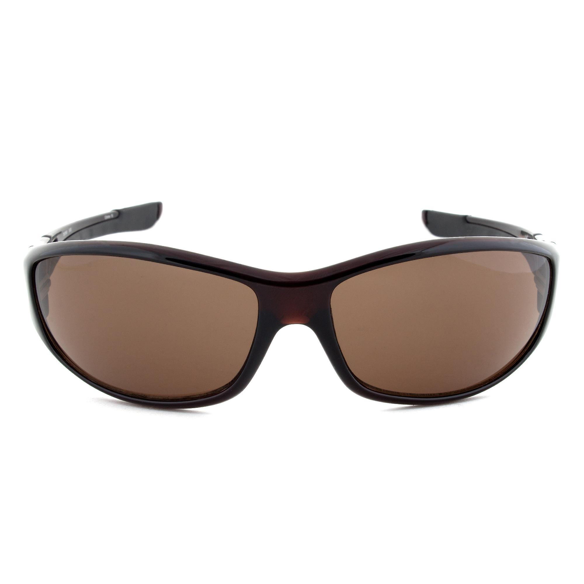 Timberland TB7093 50E Sport Wrap Sunglasses | Dark Brown Frame | Brown Lens