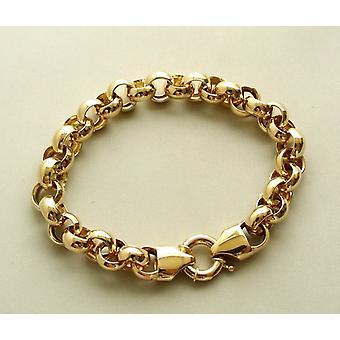 Gult guld kristna jasseron armband