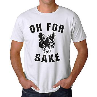 Lustige Oh für weiße Fox Willen Grafik Herren T-shirt