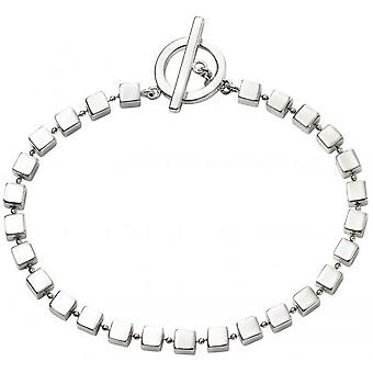 Beginnings Cube T Bar Bracelet - Silver