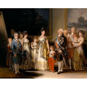 Portrait de la famille de Charles IV, Francisco Goya, 50x40cm