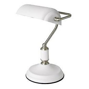 Lloytron Sand weißer Kaiser Banker Lampe für Tisch Schreibtisch Büro