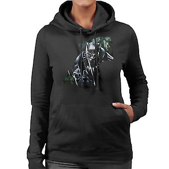 Marvel Black Panther Roaring Silhouette Women's Hooded Sweatshirt