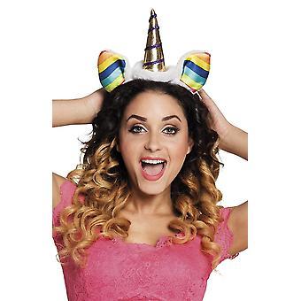 Womens licorne Rainbow bandeau déguisements accessoires