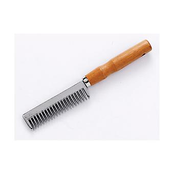 Lincoln Tail Comb With Wooden Handle