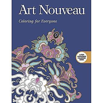 Art Nouveau: Coloriage pour tout le monde (Stress créatif soulager livre de coloriage adulte)