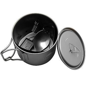TOAKS Ultralight Titanium Solid Fuel Cook System CS-01 - Outdoor Camping