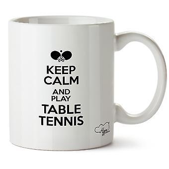 Hippowarehouse garder calme et jouer Tennis de Table imprimé Mug tasse céramique 10oz