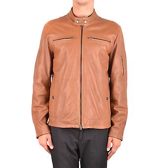 Fay Ezbc035026 Her's Brown Leather Outerwear Jacket