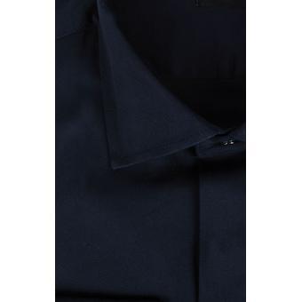 Dobell Mens Navy Dress Shirt Regular Fit