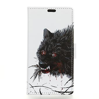 Sony Xperia L3 Portefeuille Case-Bloody Wolf