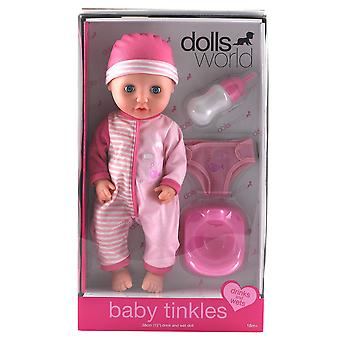 "Dolls World - New Baby Tinkles 12"""