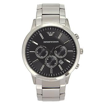Armani Watches Ar2460 Armani Stainless Steel Silver&black Men's Watch