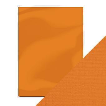 Craft perfect A4 weven textuur kaart pompoen Orange Tonic Studios