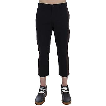 Brown black 3/4 length pants