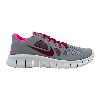 Nike Free 5.0 GS Stealth/Raspberry Red-Pink Flow-Pure Platinum 580565-066 Grade-School
