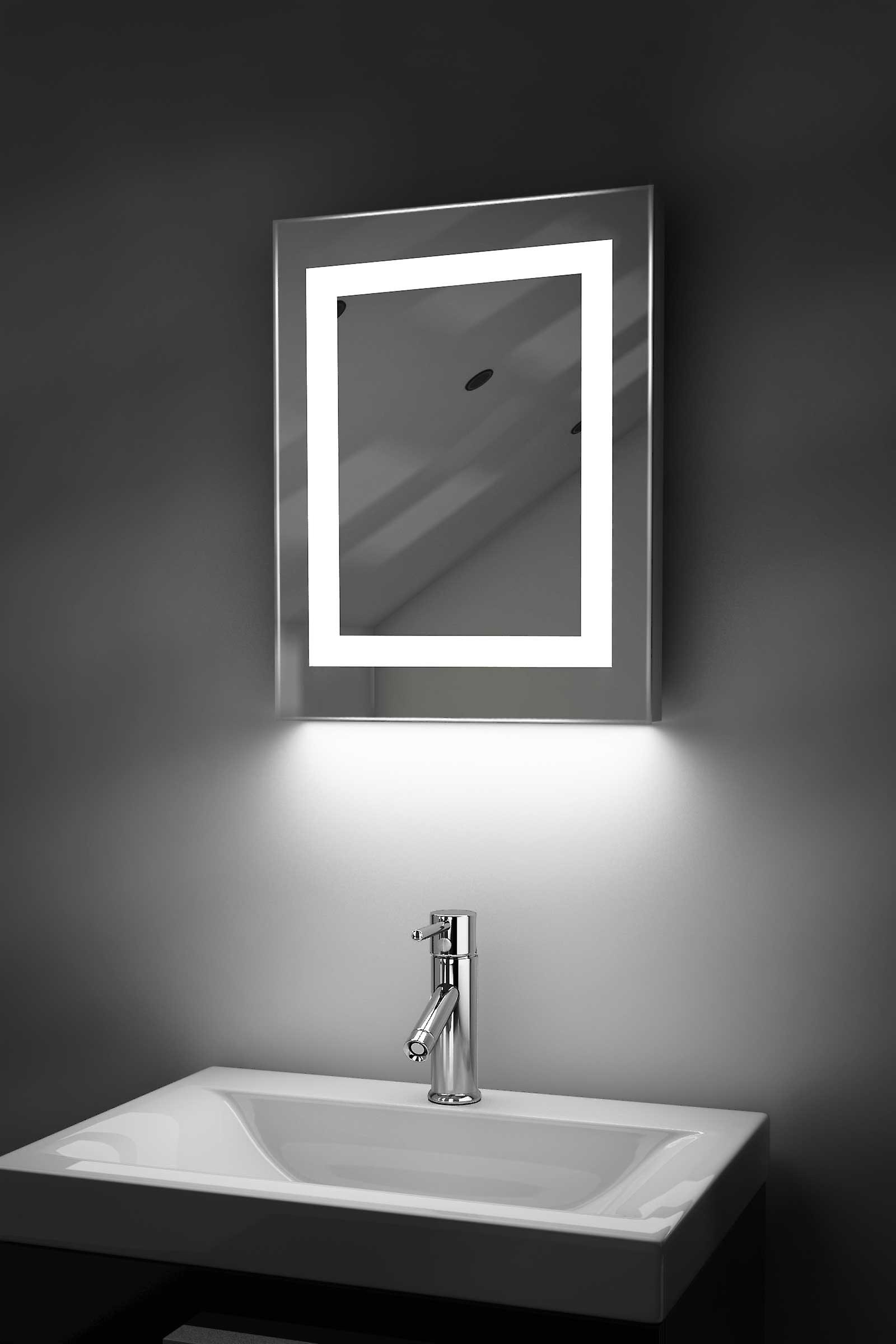 Auto Colour Change Bathroom Mirror With Demist Pad & Sensor k157irgb