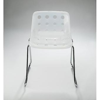 Loft Robin Day Sled Semi-Transparent Plastic Polo Chair