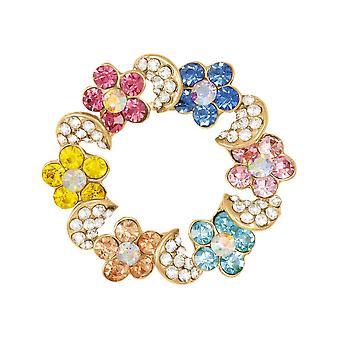 Eternal Collection Rainbow Multi Coloured Crystal Scarf Clip